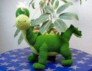 Вязаный динозавр Дино, схема