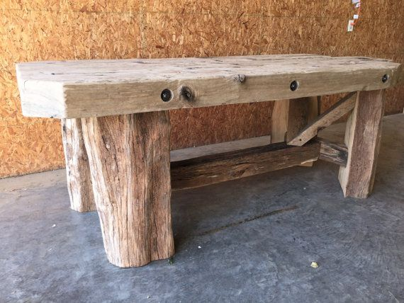 Ohio River driftwood/barn beam table and chairs.