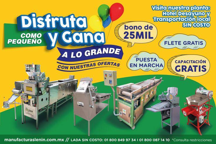 Manufacturas Lenin │ncuentra las mejores máquinas tortilladoras para tu negociomanufacturaslenin.mx │01 800 849 97 34