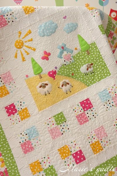 Marie's quilts: Quilting  sheep quilt