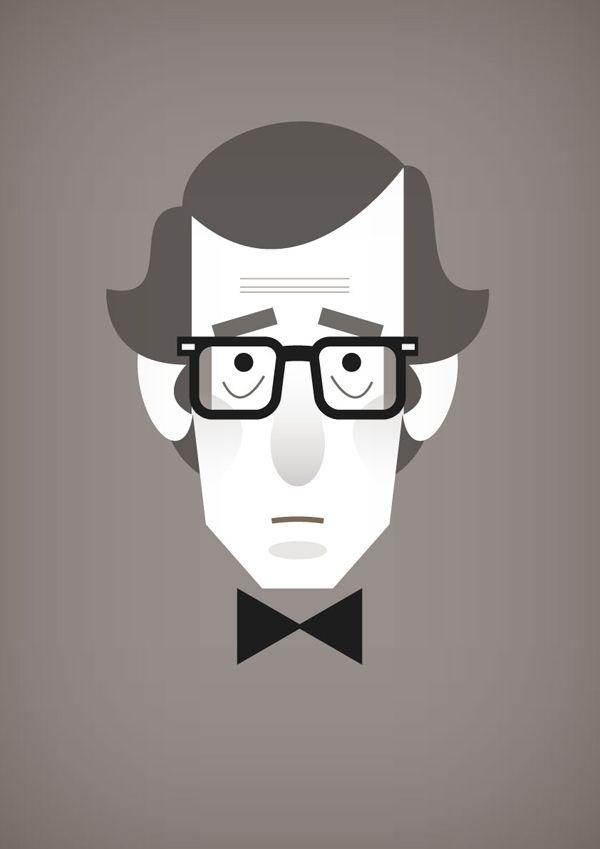 Woody Allen - Minimalst Portrait by Stanley Chow