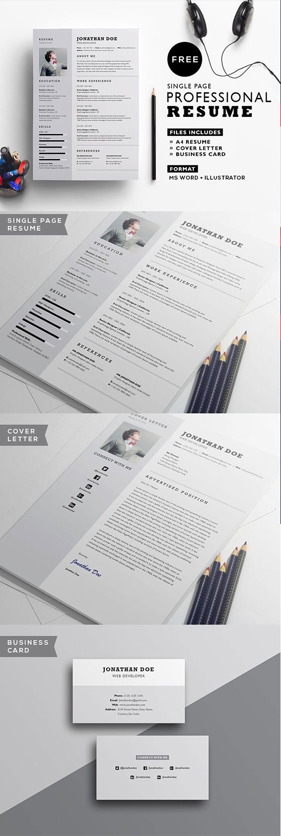 32 best CV template images on Pinterest | Resume templates, Job ...