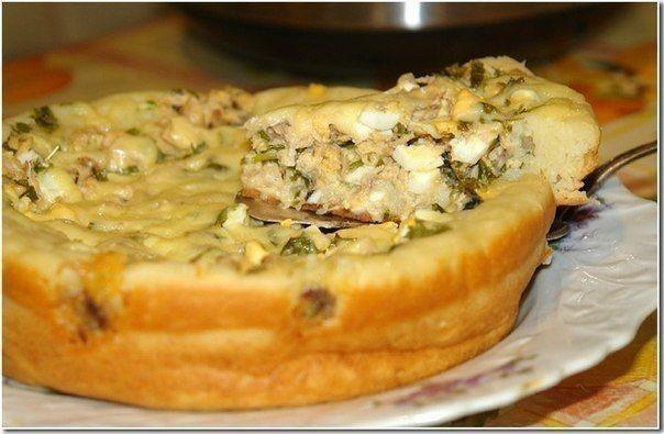 """Быстрый пирог из рыбы (604x395, 49Kb)  В начинку к рыбке добавляю обжаренный с луком картофель,натертый на крупной терке, еще вкуснее и называется,кстати,""""ужин моряка""""!"""