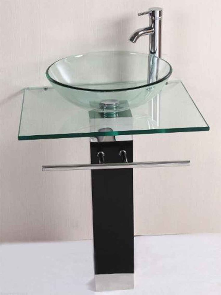 Beautiful Egler NEW Modern Home Bathroom Vanity Pedestal Glass Sink W Chrome Faucet U0026 Wood  Base Generic | Faucet | Pinterest | Faucet, Modern Bathtub And Bathroom ...