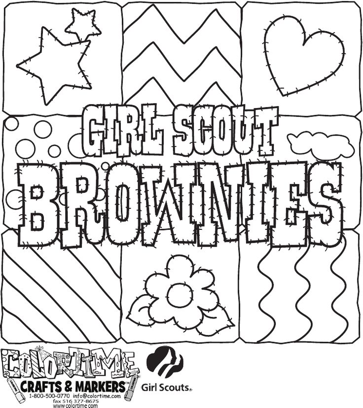 Girl Scout Brownies Coloring Pages - Coloring Home | 827x736