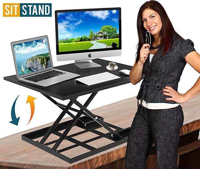 Standing Desk Stand Up Desks Height Adjustable Sit Stand Converter Laptop Stands Large W Adjustable Height Desk Adjustable Height Standing Desk Adjustable Desk