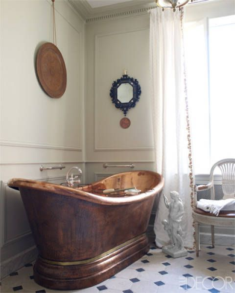 One Of A Kind Bathrooms - Unique Bathroom Design - Redbook Copper bath tub
