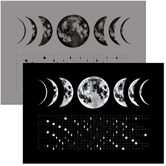 Phases of the Moon 2018 Full Moon Calendar Phase Kitchen hand