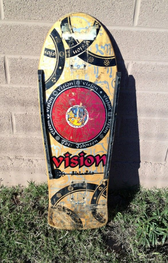 Vision Joe Johnson deck. Reminds me a bit of the Powell Medallion graphic.