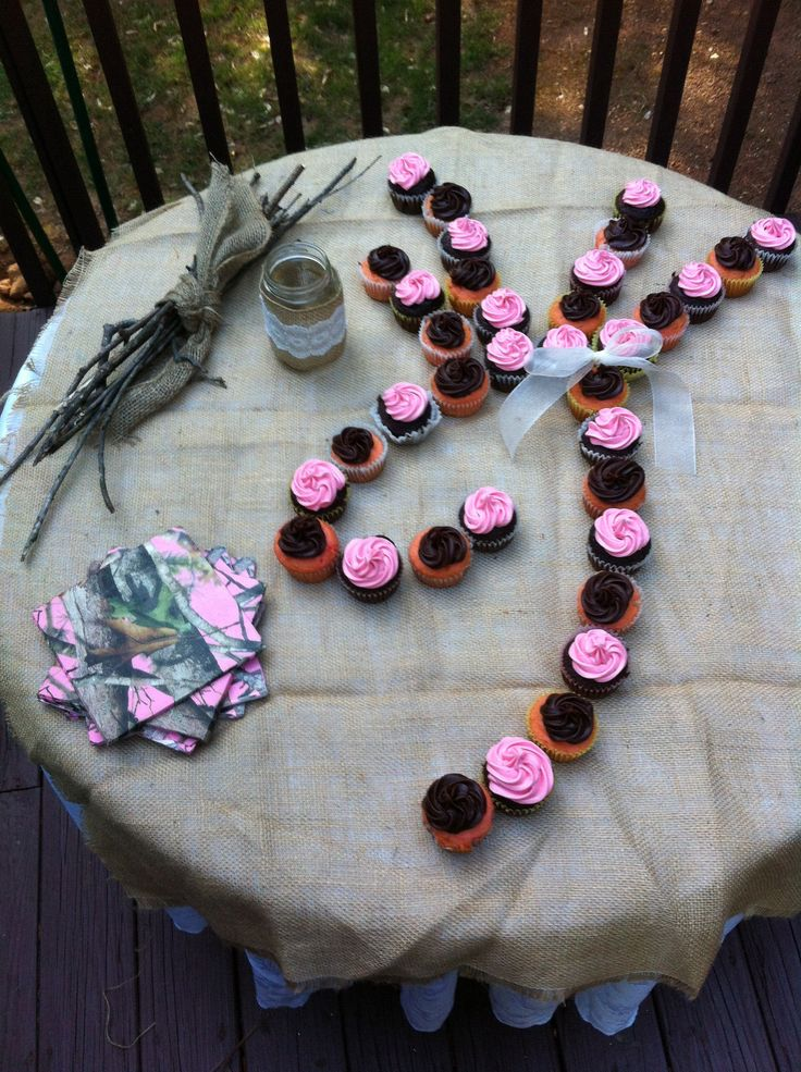 Browning Cupcakes for girls camo party.