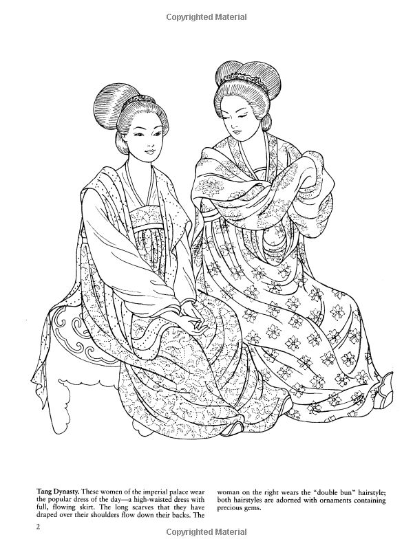 The 126 Best Coloring Pages LineArt Asian Oriental Images On Pinterest
