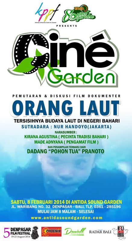 Cine Garden... Diskusi dan Pemutaran film Dokumenter Orang Laut