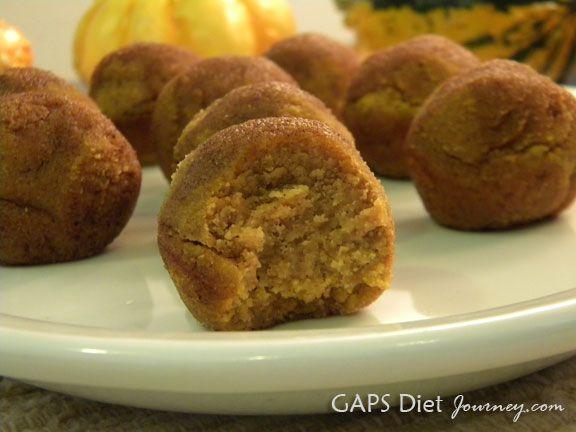Pumpkin Poppers with Cinnamon Topping. ☀CQ #glutenfree #sweets #pumpkin