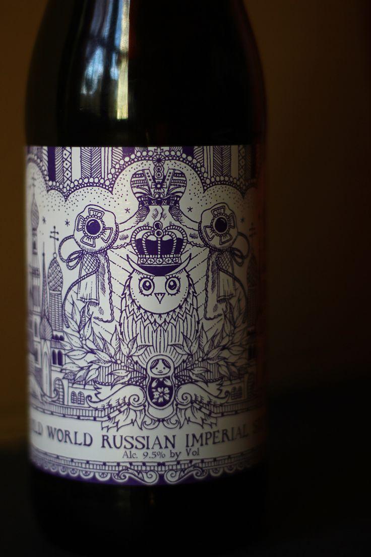 Old World Russian Imperial Stout - Label design by Johanna Basford http://www.johannabasford.com  BrewDog http://www.brewdog.com
