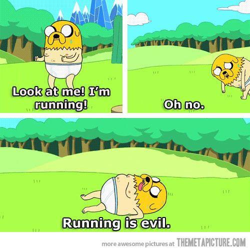 Eu correndo!