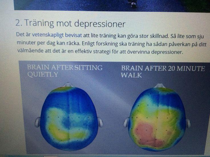 Träning 7min minskar risk för depression