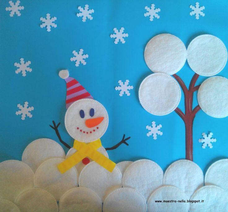 Bildergebnis für schneeflocken basteln watte