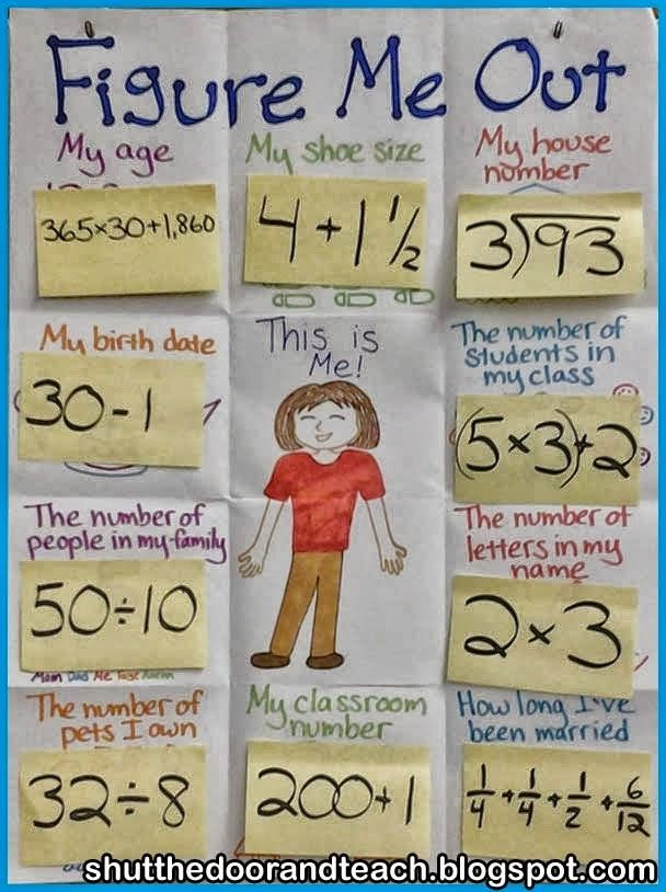 Figure Me Out - Beginning of the year Math Activity
