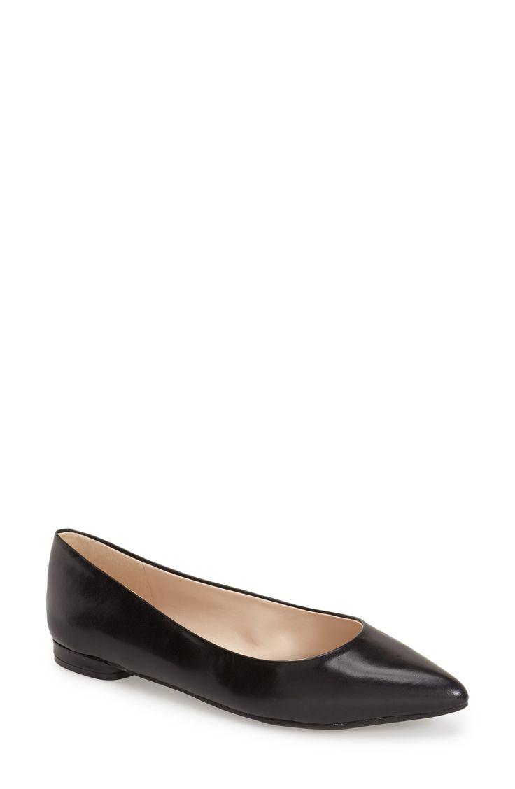 Nine West 'Onlee' Pointy Toe Flat (Women)