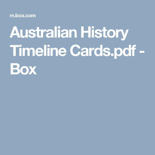 Australian History Timeline Cards.pdf - Box
