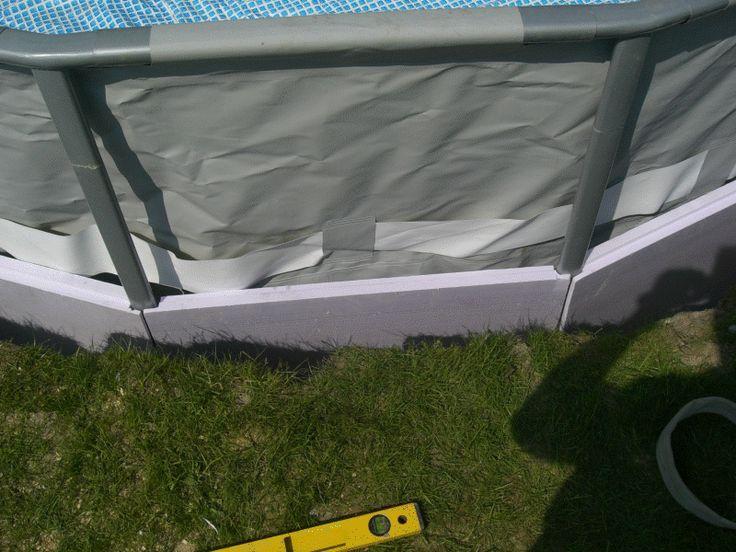 Intex frame pool in erde einlassen yard pool pool im garten poolverkleidung garten - Pool im boden einlassen ...