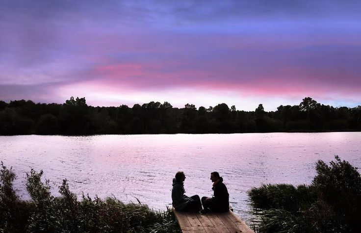 Serenity by UEA lake at sunset