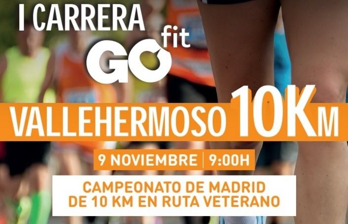 Inscríbete a la II Carrera GO Fit Vallehermoso en Madrid