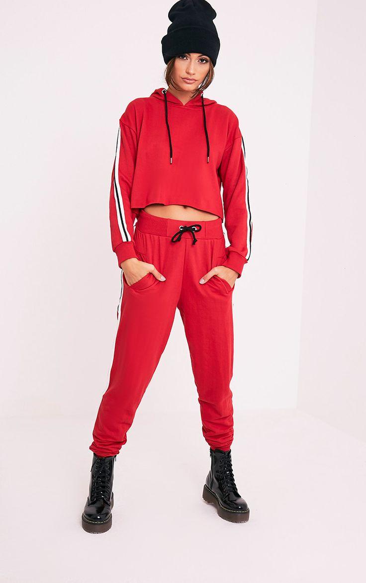 Gwen Red Side Stripe Joggers