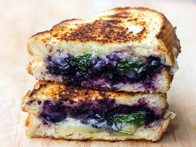 This blueberry-stuffed grilled cheese will make you wish it was always blueberry season!
