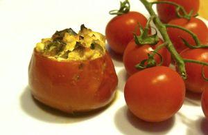 Zapečená rajčata plněná sýrem cottage