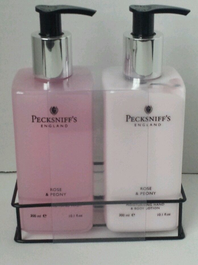 Pecksniff 39 s england rose and peony hand wash and body Hand wash and lotion caddy