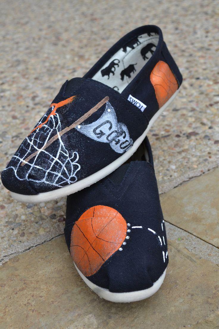 "Basketball Spirit Custom TOMS Shoes  ""Made to Order"". $125.00, via Etsy."