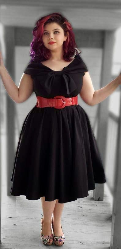 plus size 60s dress hair