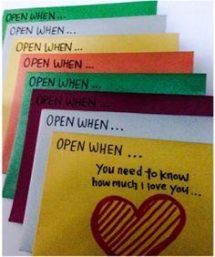 Open when - ein ganz persönliches Geschenk. Schreib einen Brief für (fast) alle Lebenslagen - so schön