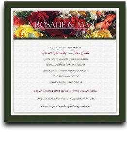 255 Square Wedding Invitations - Red Spring Bouquet Too by WeddingPaperMasters.com. $637.50. Now you can have it all! We have created, at incredible prices & outstanding quality, more than 300 gorgeous collections consisting of over 6000 beautiful pieces that are perfectly coordinated together to capture your vision without compromise. No more mixing and matching or having to compromise your look. We can provide you with one piece or an entire collection in a o...