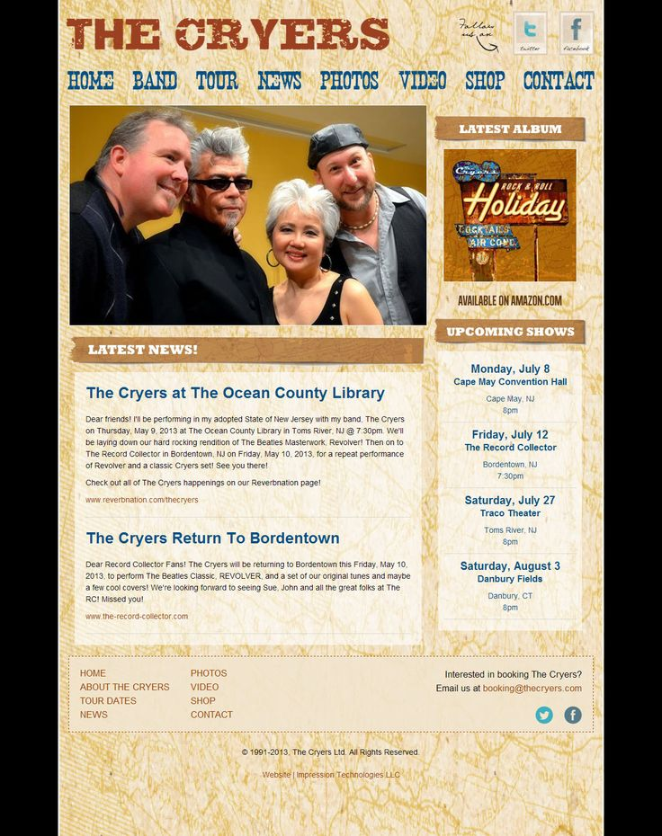 Website design for The Cryers (www.thecryers.com) by Impression Technologies.