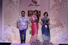 It was the center of attraction for the Lagoon collection the designer duo Paras and Shalini dived deep under the sea to look for mystical treasures as their inspiration. at the Wills Lifestyle India Fashion Week being held in Hall No. 18 at Pragati Maidan, New Delhi.