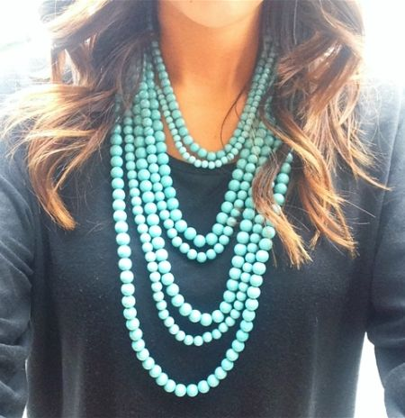 "Achieve this look with 2 of Premier's new Spring 2014 ""Seabreeze"" necklaces"