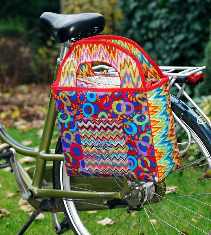 Kleurrijke fietstas