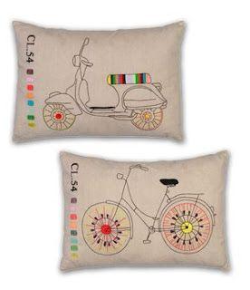 ABruxinhaCoisasGirasdaCarmita: Almofadas bordadas à mão