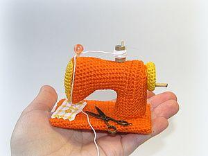 Knit a miniature sewing machine | Fair Masters - handmade, handmade
