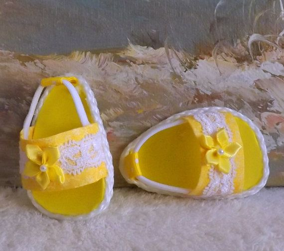 American Girl Doll Clothes Sandals Yellow Shoes por sewgrandmacathy
