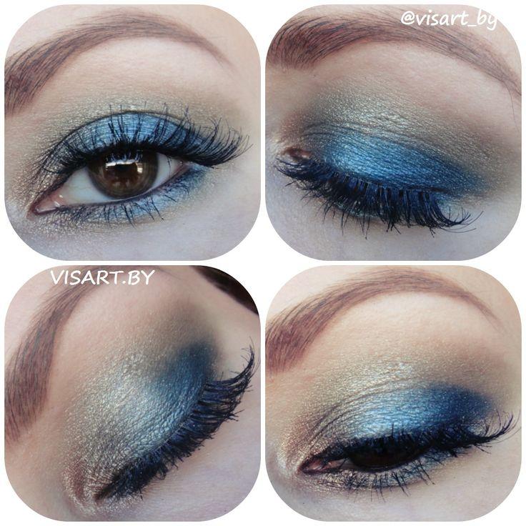 Сине-золотистый макияж глаз с палеткой Sleek Original и ресницами Ardell #makeupeyes #blue #makeup #glamour #flawless #sleek #makeupaddict #makeupideas #makeupartist #makeupmafia #makeuplover #instamakeup #mua #ardell #bbloggers #beauty #ardell #макияжглаз #макияж #мэйкап #синиймакияж #вечерниймакияж #смокиайс #макияжминск #визаж #визажистминск #буднивизажиста www.visart.by