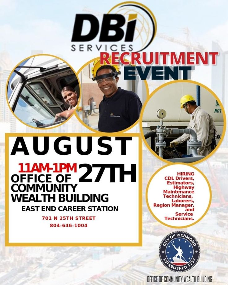 Attention DBI Services Recruitment Event!!! Recruiting for