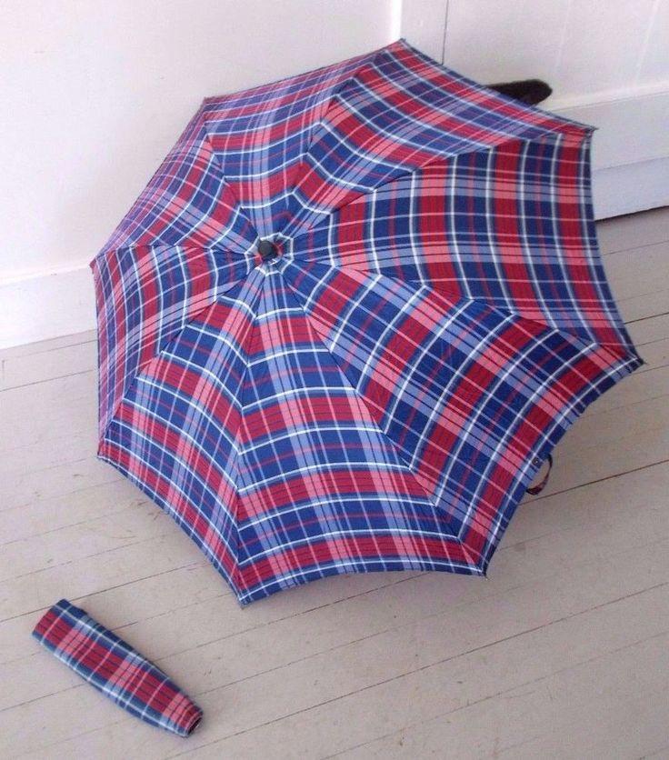 Vintage 60's Retro Siege Rothschild Tartan Plaid Parasol Umbrella Cover Marvel #SiegeRothschildGansBrosCorp #Everyday