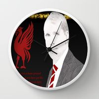 Wall Clock featuring Liverpool FC manager Brendan Rodgers by jt7art&design