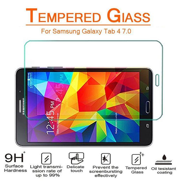 SAMSUNG GALAXY TAB 4 7.0 SCREEN PROTECTOR, PREMIUM TEMPERED GLASS SCREEN PROTECTOR   #tabletgadgets #tabletaccessories   www.kuteckusa.com.