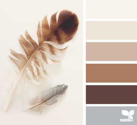 feathered tones color escape - gorgeous color palette inspiration idea - grays and brown neutrals