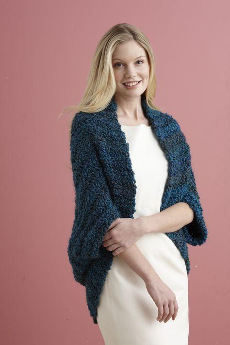 Simple Crochet Shrug Free Lion Brand Pattern Using