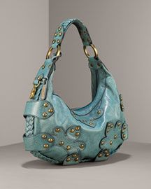 """Isabella Fiore Oasis Handbag...my first """"nice"""" handbag that went with nothing and everything all at the same time.  Has faded like crazy and is still gorgeous."""